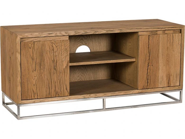 Olette wood and metal small TV unit