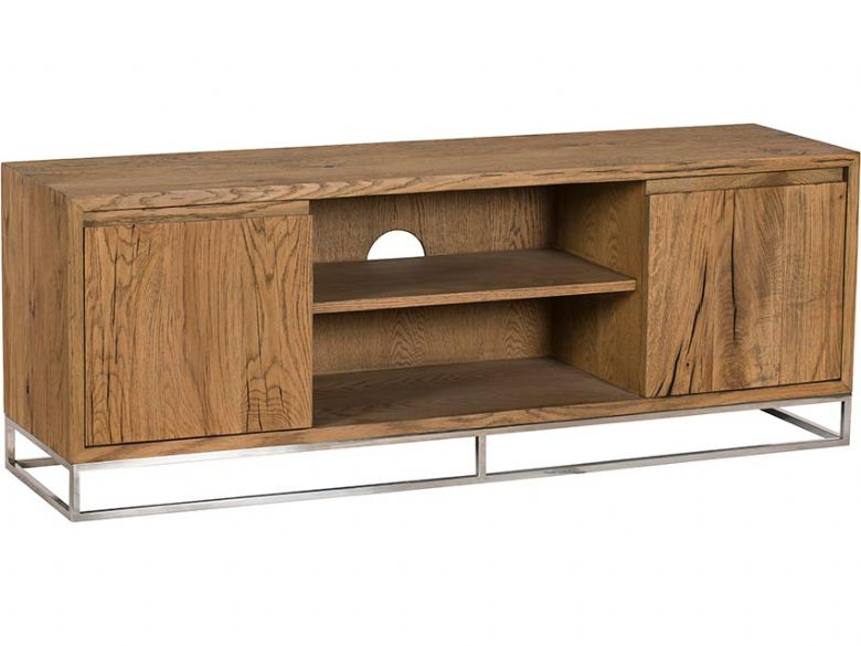 Olette wood and metal large TV unit