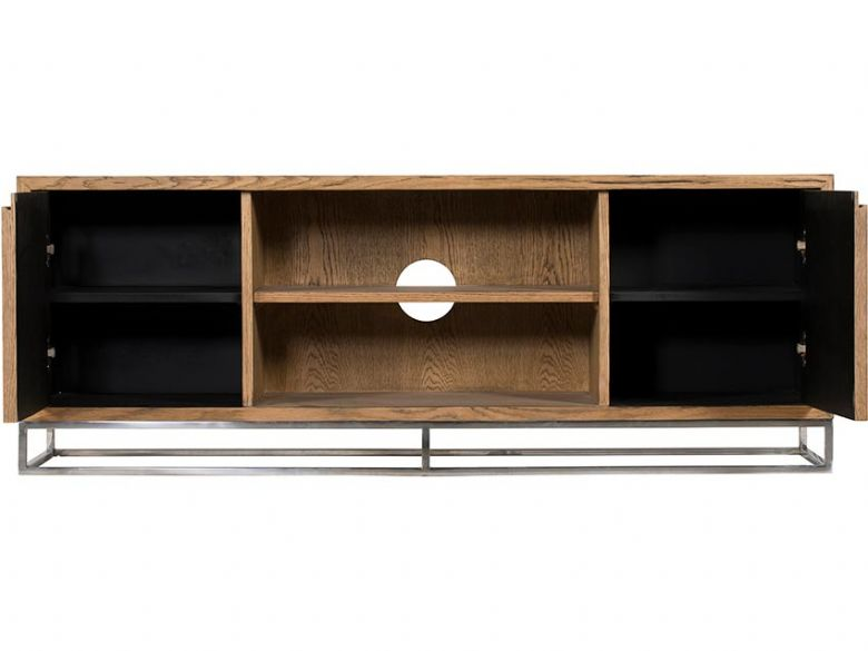 Olette rustic wood TV cabinet