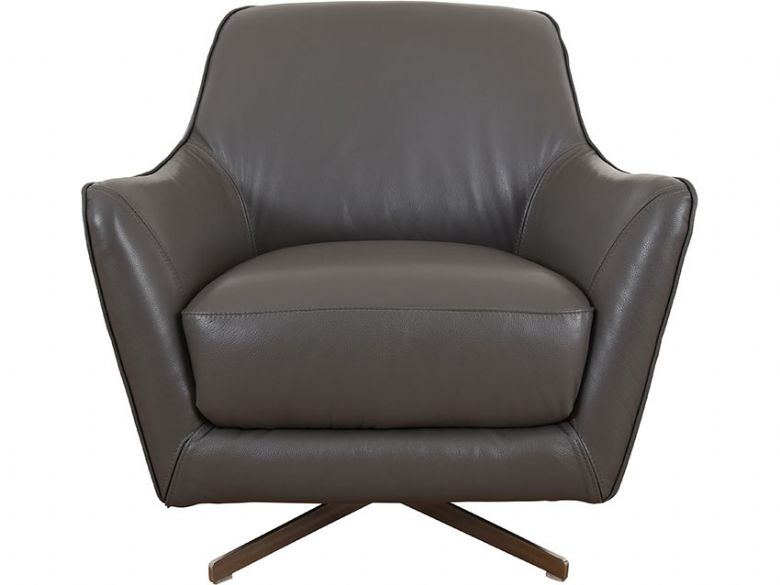 Tabitha grey leather swivel chair available at Lee Longlands