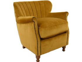 Paul Chair in Turmeric Velvet