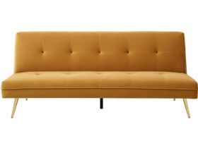 Lorenzo 3 Seater Mustard Sofa Bed
