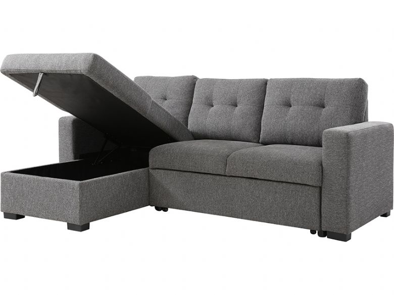 Brando Grey corner sofa bed - at Lee Longlands