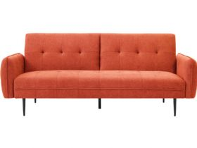 Franco 3 Seater Orange Sofa Bed
