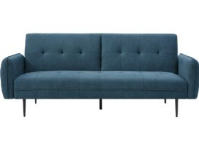 Franco 3 Seater Blue Sofa Bed