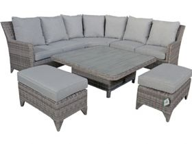 Miami Lift and Rise Garden Corner Dining Set