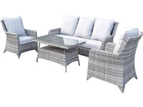 Miami 5 Seat Garden Set with Coffee Table - Nature