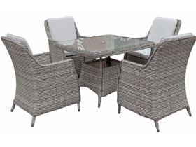 Pittsburgh Grey Square Garden Dining Set