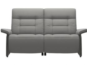 Stressless Mary 2 Seater With 2 Power Paloma Silver Grey/Grey Arms