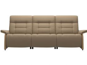 Stressless Mary 3 Seater With 3 Power - Paloma Funghi/Oak Arms