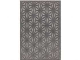 Periwinkle grey patterned outdoor rug