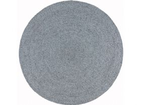 Poppy grey round outdoor rug available at Lee Longlands
