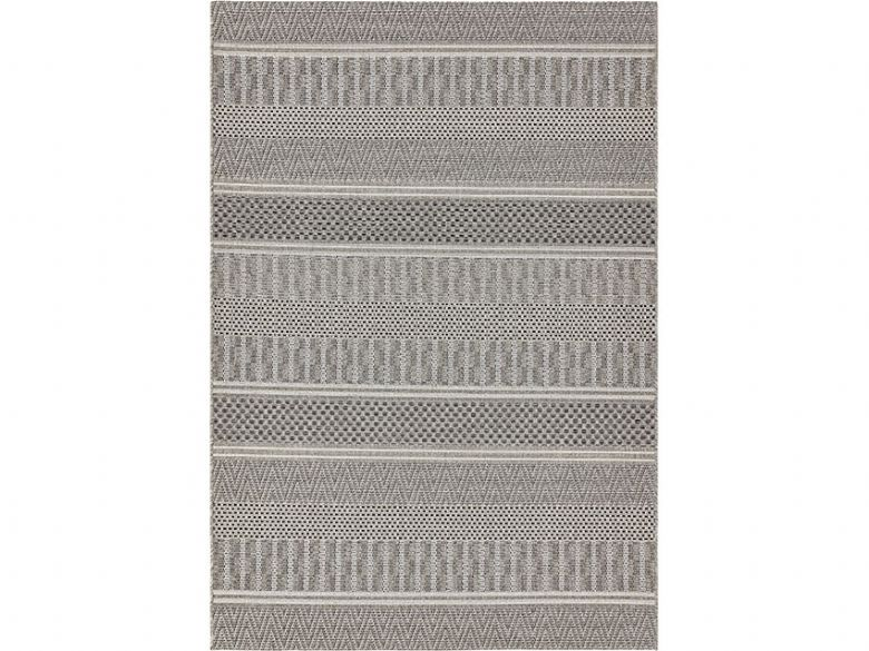 Wisteria grey geometric rug available at Lee Longlands