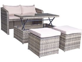 Indiana brown garden lounge and dining collection
