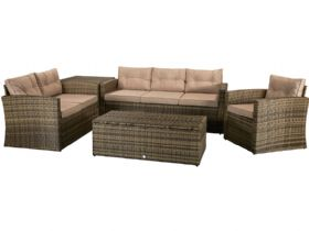 Rhode brown garden sofa set available at Lee Longlands