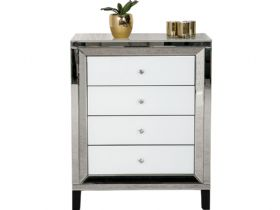 Florence Mirrored 4 Drawer Chest of Drawers