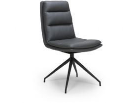Tari Swivel Dining Chair with Black Legs