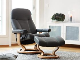 Stressless Consul Chair in Batick Grey