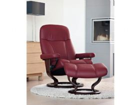 Stressless Consul Leather Chair with Classic Base