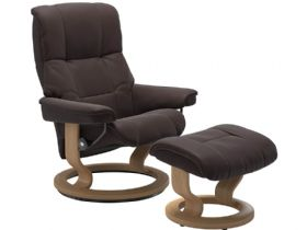 Stressless Mayfair Leather Recliner Chair And Stool