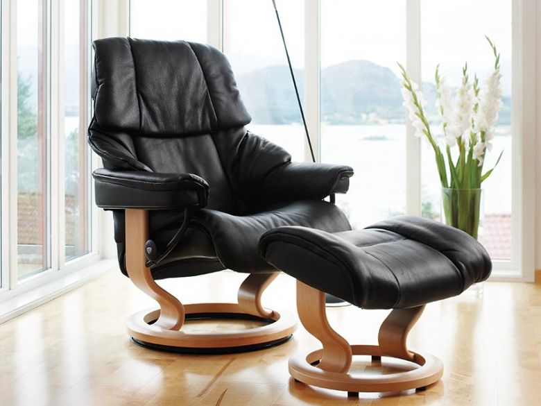 Stressless Reno Black Leather Chair