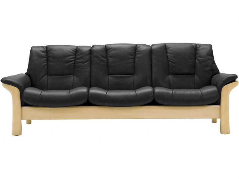 stressless buckingham low back 3 seater leather sofa longlands