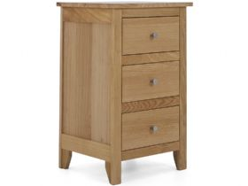 Oak 3 Drawer Bedside Chest