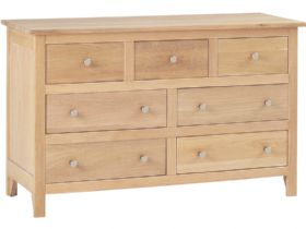 Sabrina oak 7 drawer chest