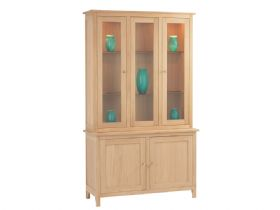 Oak Tall Display Cabinet