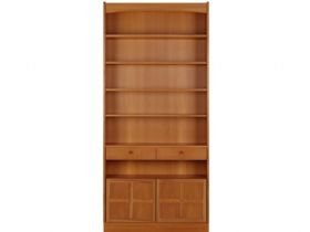Nathan Furniture Classic Range Tall Bookcase With Doors