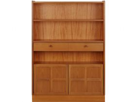Nathan Furniture Classic Range Medium Bookcase With Doors
