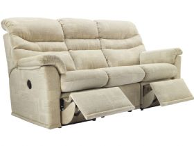G Plan Malvern Soft Cover 3 Seater Power Double Recliner Sofa