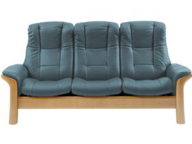 Stressless Windsor 3 Seater High Back Leather Sofa