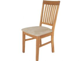 Oak Dining Chair with Fabric Seat Pad