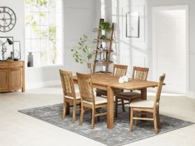 Duke oak dining table and 5 chairs
