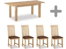Compact Extending Table & 4 Chairs