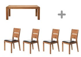 1.9m Dining Table & 4 Chairs