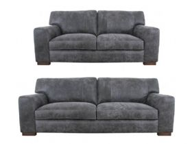 Edmonton 3 Seater & 2 Seater Leather Sofa