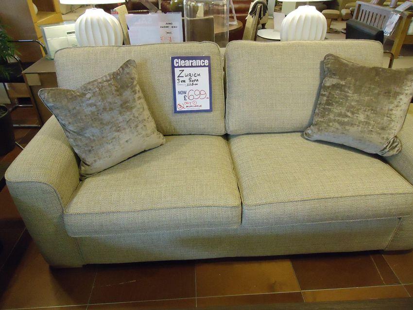 Alstons Zurich 3 Seater Sofa