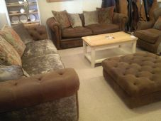 Velmont 3 Seater Sofa, 2 Seater Sofa, Wing Chair & Stool
