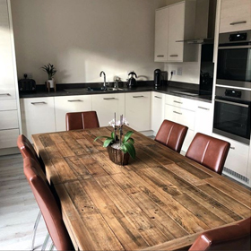 Halsey 140cm Reclaimed Extending Dining Table