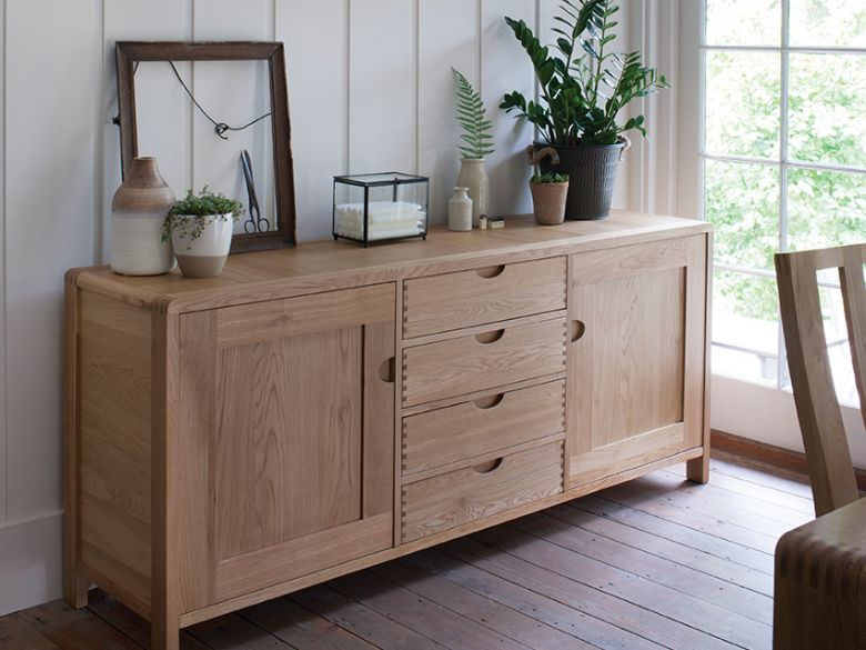 Ercol Bosco large oak sideboard