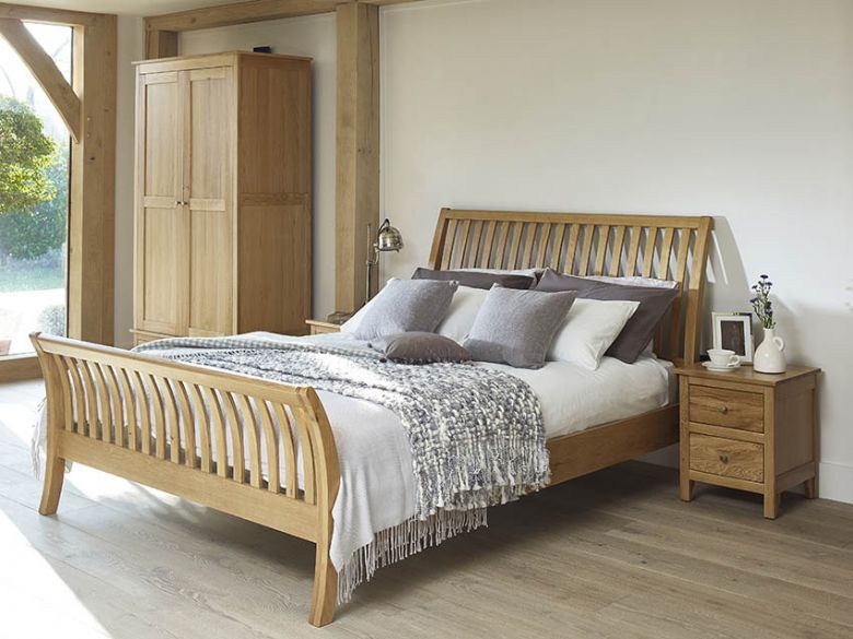 Sabrina oak bedroom range, avaiable in various finshes