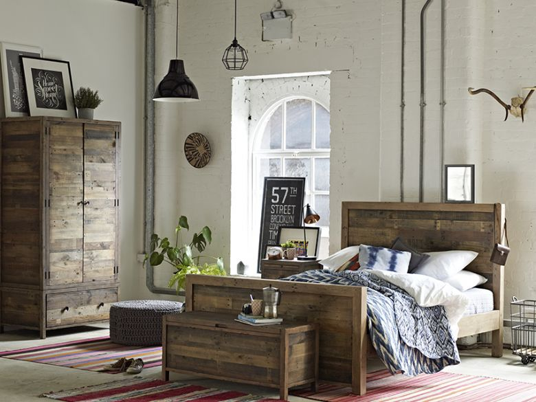 Halsey reclaimed rustic bedroom collection
