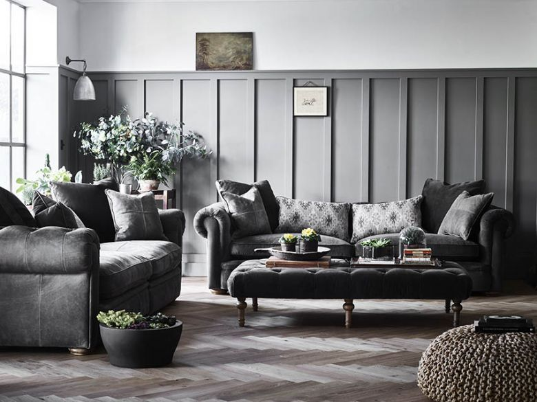 Delfino classic yet modern leather sofa collection