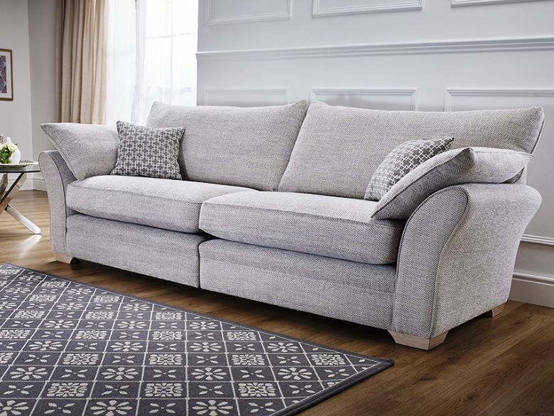Daniel Large Fabric Corner Sofa, Rhino Charcoal Sofa - North ...