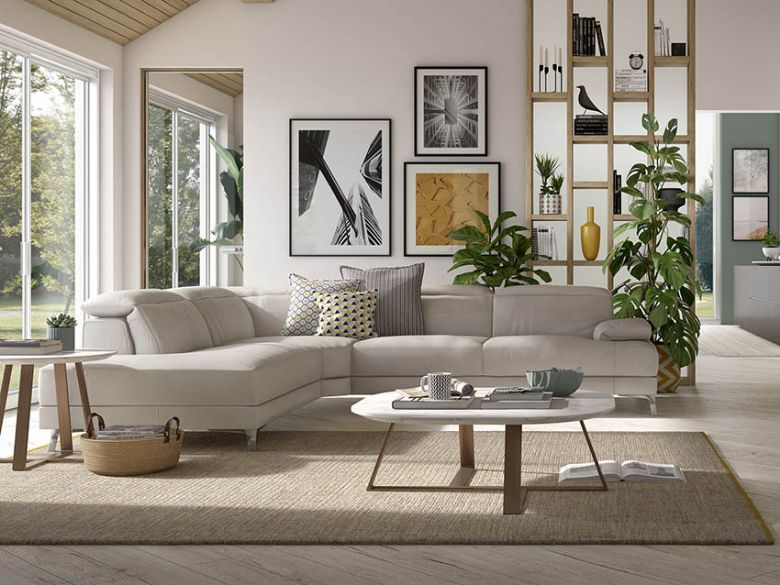 Natuzzi Editions Speranza in white leather